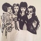 Ghoul Gang Elvira Morticia Vampira Bride of Frankenstein Ladies Tee - NWT