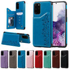 Внешний вид - For Samsung Galaxy A50 S20 S10 S9 Cat Leather Flip Wallet Card Holder Case Cover