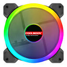 3/6-pack Rgb Computer Case Fan 120mm Cooling Fans Led Rf Remote Control Pc Light