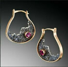 Kyпить 925 Silver Ruby Amber Sapphire Earrings Moonstone Turquoise Ear Hook Drop Dangle на еВаy.соm