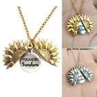 Creative ''You Are My Sunshine'' Letter Print Sunflower Pendant Chains Necklace image