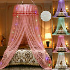 Princess Girl's Dome Mosquito Net Bed Canopy Curtain Decors for Twin Full Queen image
