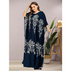 Muslim Women Maxi Dress Abaya Vintage Islamic Jilbab Prayer Kaftan Loose Robes