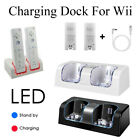 2 Batteries + Charger Charging Dock Station For Nintendo WII Remote Controller ^