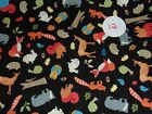 1/2 YARD CUT Animal Curious George McDonald Pirate Quilt Free Ship Cotton Fabric