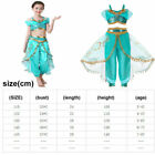 Aladdin Cosplay Costume Girls Kids Child Princess Jasmine Fancy Dress Halloween