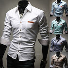 Mens New Fashion Luxury Long Sleeve Business Casual Dress Shirts Formal Top W271