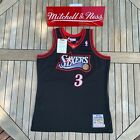 Mitchell & Ness Allen Iverson NBA Authentic Jersey Philadelphia 76ers 1997 Black on eBay