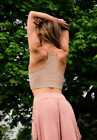 NEW Free People Movement Happiness Runs Tank Top in Taupe XS/S-M/L 39.80