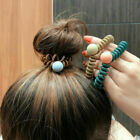 Women Girls Traceless Elastic Hair Rope Telephone Wire Cord Ponytail Ring New