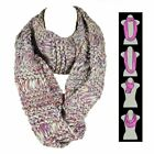 Chunky Marled Knit Infinity Scarf Fashion Style Winter Circle Loop Cowl Wrap