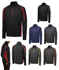 MEN'S 1/2 ZIP PERFORMANCE PULLOVER, CONTRAST COLOR SPLICES, WICKING, XS-4XL
