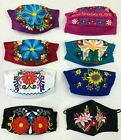 Face Mask Mexican Embroidered Floral Face Cover Handmade In Mexico Cotton Fresh