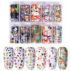 10 Rolls Animal Lines Nail Foils Transfer Stickers Snake Tiger Nail Decals