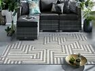SMALL-EXTRA LARGE INDOOR / OUTDOOR PATIO CONSERVATORY GARDEN MODERN RUGS MATS <br/> ENTIRE RANGE IS SUITABLE FOR OUTDOOR USE ALL-YEAR ROUND