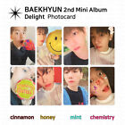 EXO Baekhyun 2nd Mini Album Delight Official Photocard Photo Card KPOP K-POP