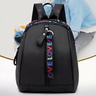 New Fashion Women Small Backpack Travel Oxford Handbag Shoulder Bag Black