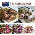 Artificial Silk Fake Peony Flowers Floral Heads Wedding Bouquet Home Decoration