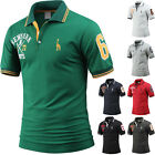Mens NEW YORK 67 Giraffe Embroidery Collar Polo Casual T-Shirts Tops W36 XS-3XL