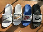 Nike Benassi JDI Just Do It Print Women's Slides Sandals Slippers House Shoes