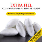 Extreme Fill Plump Hollowfibre Cushion Pads Inners Fillers Scatters - All Sizes