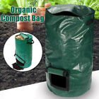 Collapsible Organic Compost Bin With-Lid Kitchen Garden Waste Bag Refuse Sack
