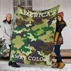 """Proud US Military Soldier - """"America's Away Colors"""" Camouflage Blanket -"""