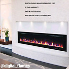 50 60 72 INCH LED DIGITAL FLAMES BLACK INSET WALL MOUNTED ELECTRIC FIRE 2020