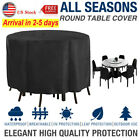 Large Round Waterproof Outdoor Garden Patio Table Chair Set Furniture Cover Us