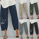 ZANZEA Women Long Pants Casual Solid Wide Legs Harem Plain Trousers Oversize NEW