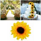 24pcs Artificial Sunflowers Silk Sunflower Head For Wedding Home Party Decor