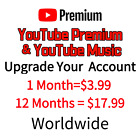 YouTube Premium & YouTube Music upgrade or A new one 1-12 Months Worldwide