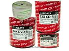 RIDATA CD-R DVD-R Media Blank Disc Logo Top Inkjet Printable Wholesale Lot