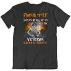 Only Veteran Smiles Back T Shirt Skull Funny At Death All Of Us Halloween New