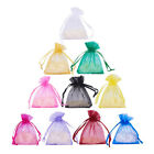 100pc Portable Organza Gift Bags Jewelry Candy Bag Wedding Favors Bags Mesh Bag