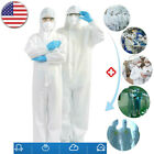 Overall Hooded Isolation Gown Protective Suit Work Clothing Full Protection US