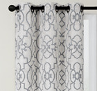 2 Pack: Reversible Geometric 100% Blackout Grommet Curtains - Assorted Colors