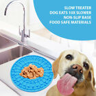 Dog Feeding Lick Mat Pet Dog Feeder Bowl Bath Distraction Easy Groom Food SucA8A