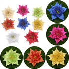 1pc Artificial Glitter Flower Wedding Party Christmas Tree Decor Xmas Floral