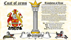 Candow-Mckennell COAT OF ARMS HERALDRY BLAZONRY PRINT