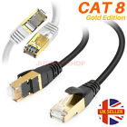 CAT8 RJ45 Network Ethernet SSTP 40Gbps Gigabit Ultra Speed - Patch LAN Cable UK