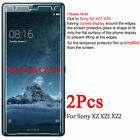 2 Pcs Tempered Glass Film Screen Protect Case Cover For Sony Experia Xperia XA1