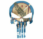 Skull State Of Oklahoma Cut Out Vinyl Window Bumper Flag Decal Various Size