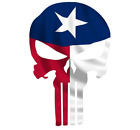 Skull State Of Texas Cut Out Vinyl Window Bumper Flag Decal Various Size