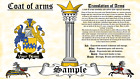 Domasgen-Thomsun COAT OF ARMS HERALDRY BLAZONRY PRINT