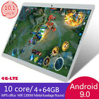 """10.1"""" 2.5d Fhd 4g-lte Wifi Tablet Pc Android 9.0 4+64gb Gps Dual Sim Camera Uk"""