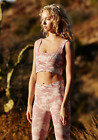 NEW Free People Movement Yoga Square Neck Good Karma Bra Camo Pink XS/S-M/L 58