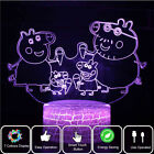 3D Visual Night Light 7 Color LED Desk Table Lamp Bedroom Decor Kids Xmas Gift H