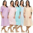 Ladies Nightgown Sleepshirt Nightwear With Pattern, M L XL 2XL