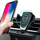 10W Qi Wireless Car Charger Phone Holder Bracket For iPhone X XS SamSung S20 S10
